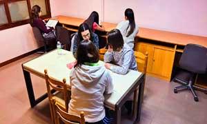 Sala de estudio de la residencia universitaria de Vitoria Inmaculada