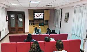 Sala Tv de la residencia universitaria de Vitoria Inmaculada