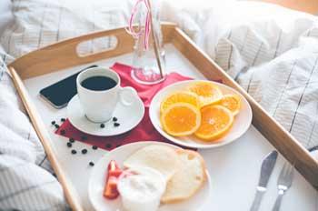 Desayuno en el comedor