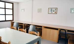 Estudiantes universitarias en la residencia universitaria de Vitoria