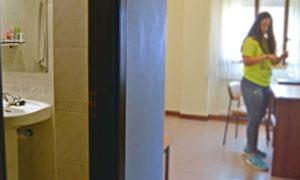 Dormitorio de la residencia universitaria de Vitoria Inmaculada