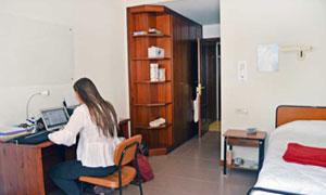 Habitaciones individuales con baño completo en la universidad de Vitoria